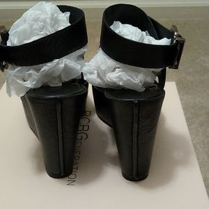 BCBGeneration Shoes - BCBG leather platform wedges